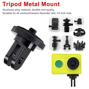 Mini Tripod Adapter Mount camera photo accessories for GoPro Hero 7 6 5 4 Session car glasses holder Sj4000 Eken H9  Accessory