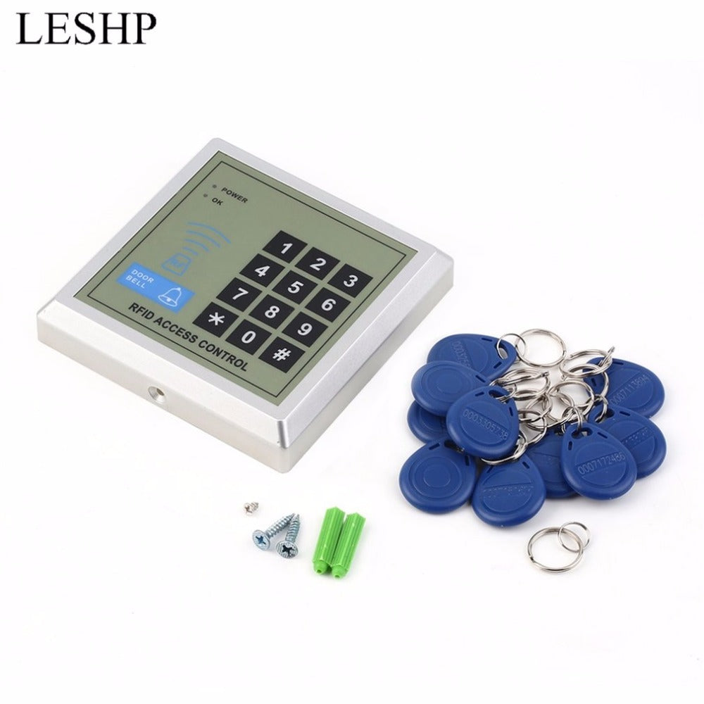 rfid keypad door access control system kit electric Magnetic electronic door lock+10pcs key fobs full set