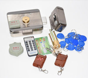 Remote control Electronic RFID Door Gate Lock/Smart Electric Lock Magnetic Induction Door Entry Access Control System 10 tags