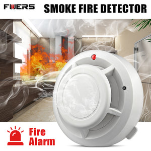Fuers Wireless Fire Protection Smoke Detector Portable Alarm Sensors Fire Sensitive Detector Home Security Fire Equipment