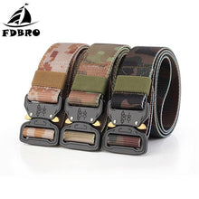 Load image into Gallery viewer, FDBRO Multifunctional Army Combat Belt Tactical Belt Metal Buckle Nylon Belt Tactic Hunting Camping Military Training Equipment