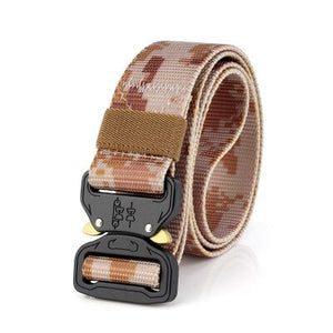FDBRO Multifunctional Army Combat Belt Tactical Belt Metal Buckle Nylon Belt Tactic Hunting Camping Military Training Equipment