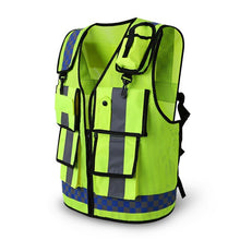 Load image into Gallery viewer, 2020 Safety Vest Traffic Warning Road Fluorescent With Pocket High Reflective Vest Breathable Adjustable Safety Equipment Vest