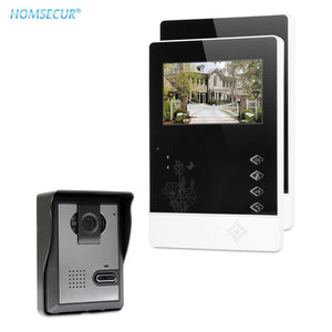 "HOMSECUR 4.3"" Wired Smart Video Door Phone Doorbell Intercom System 700TVLine Camera Durable Rainproof Cover XM403+XC005"