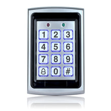 Load image into Gallery viewer, Metal Waterproof Access Control 125KHz RFID Card Reader Keypad With 10 Keys With Rain Cover For Door Access Control System