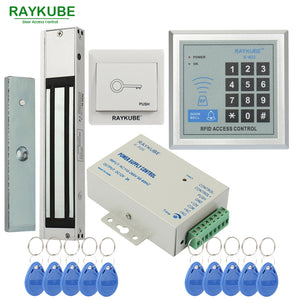 RAYKUBE Access Control System Kit 180KG/280KG Electric Magnetic Lock + Password Keypad Gate Opener