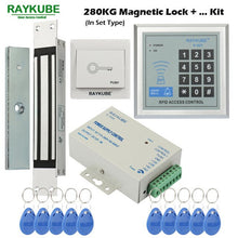 Load image into Gallery viewer, RAYKUBE Access Control System Kit 180KG/280KG Electric Magnetic Lock + Password Keypad Gate Opener
