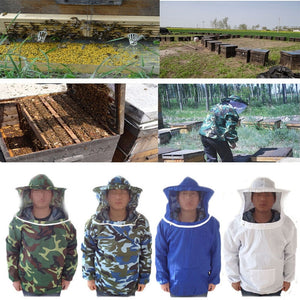 Beekeeping Jacket Veil Anti-bee Protective Safety Clothing High Quality Smock Equipment Supplies Bee Keeping Hat Long Sleeve Top