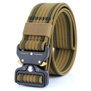 FDBRO Multifunctional Army Tactical Belt Metal Buckle Nylon Belt Hunting Camping Military Equipment Training Tactic Combat Belt