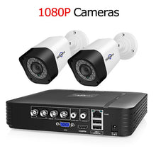 Load image into Gallery viewer, Hiseeu 4CH Video Surveillance Kit CCTV Camera Security system Outdoor 2PCS 2MP 1MP Waterproof AHD System App View Support HDD