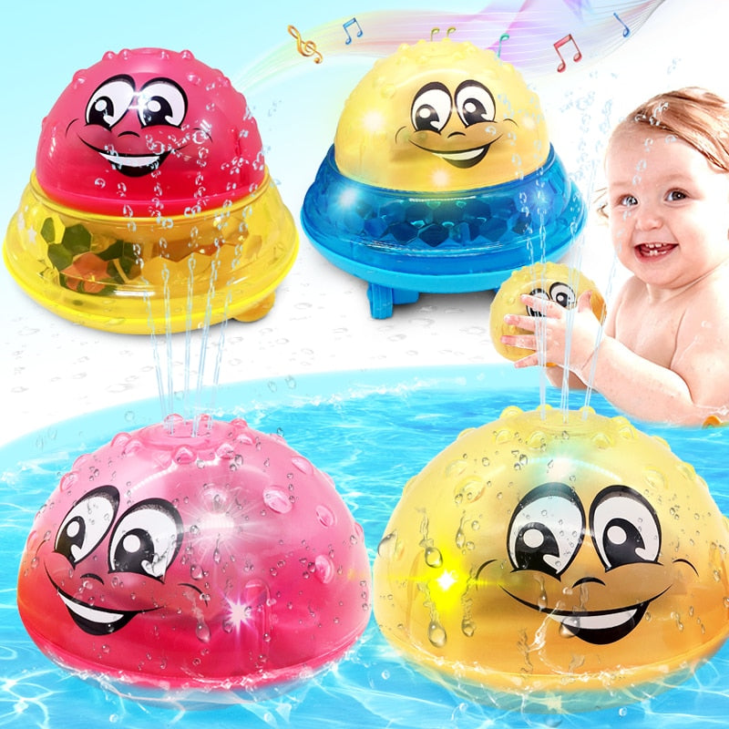 Spray Water Light Rotate with Shower Toy for Kids