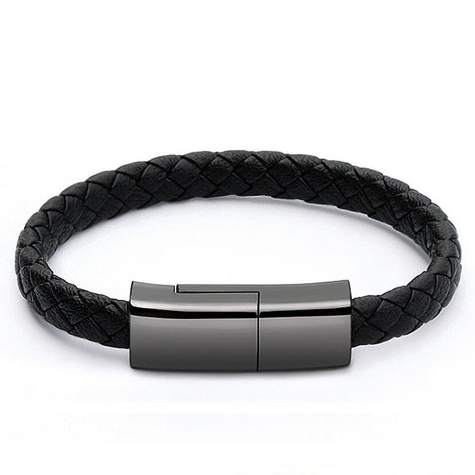 Leather Sports USB Bracelet