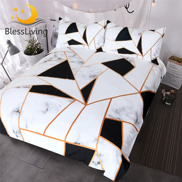 BlessLiving Irregular Geometric Printed Bedding Set