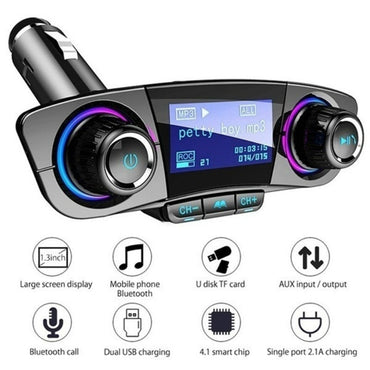 Car FM Transmitter Aux Modulator