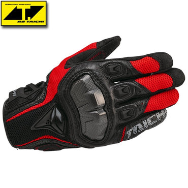 Breathable Leather Motorcycle Gloves