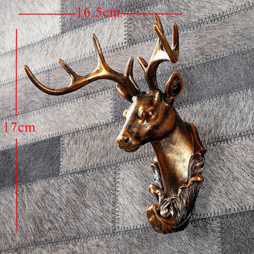Vintage Antelope Head Abstract Sculpture Room Wall Decor
