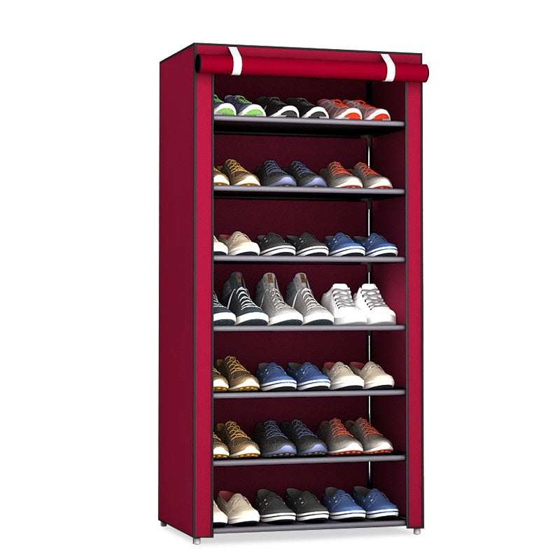 Dustproof 10 Layers Shoe Rack Organizer