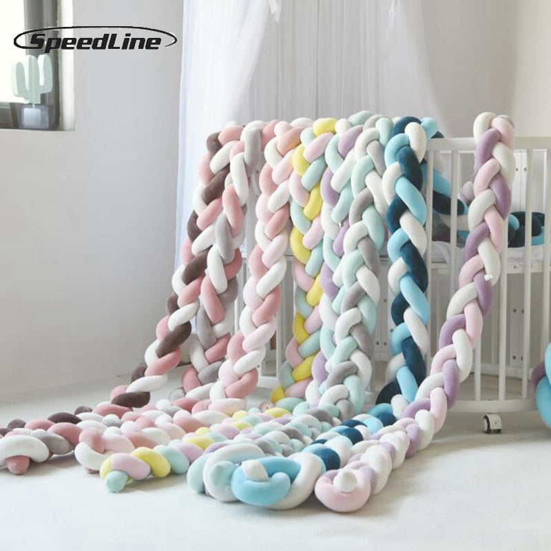 3M Mixed Colours Braided Crib Bumper Knot Pillow