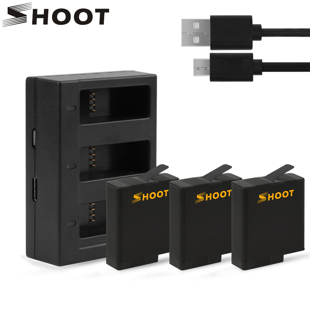 GoPro 7 Battery with Three/Dual Ports USB Charger
