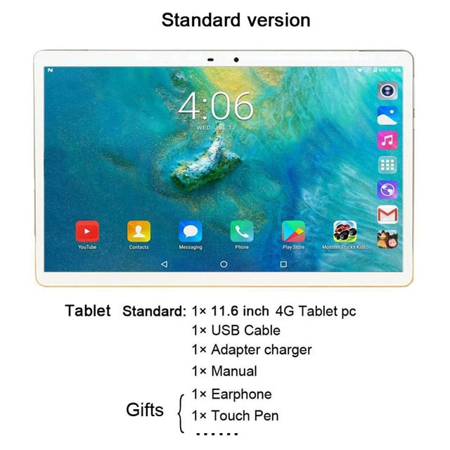 Laptop 11.6 inch 2 in 1 4G LTE Android Tablet MTK