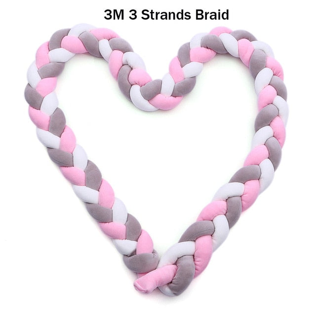3 Strands Knotted Braided Bumper Knot Pillow