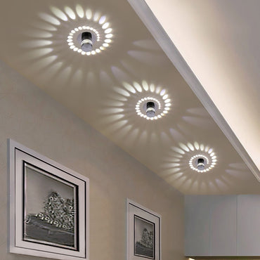 Through-Carved Modern LED Ceiling Light