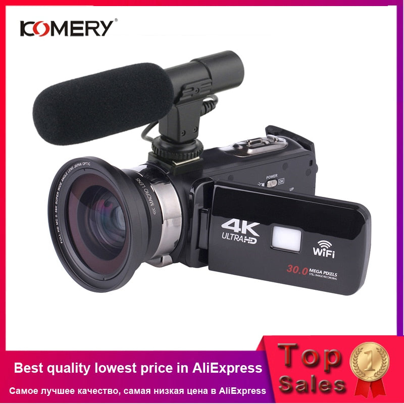 KOMERY 4K Camcorder Video Camera