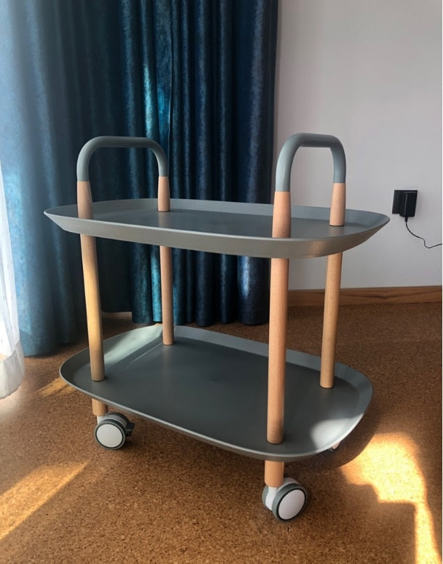 2-Tier Shelf Cart with Casters
