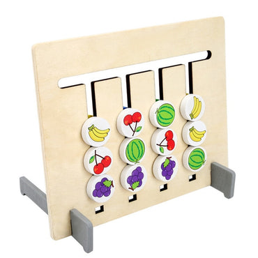 Montessori Colors and Fruits Double Sided Matching Wooden Toy