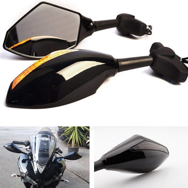 MOTORCYCLE LED TURN SIGNAL MIRRORS