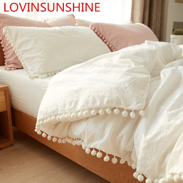 Decorative Microfiber Fabric Queen/King Size Bedding Set