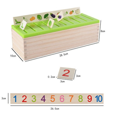 Montessori Early Educational Learn Toy Wood Box