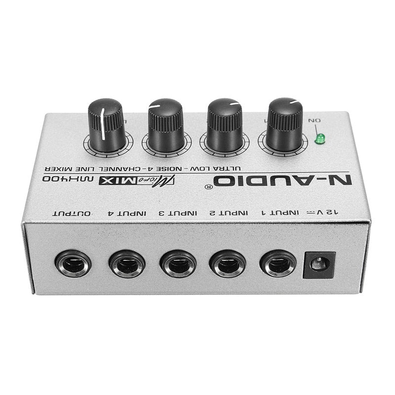 LEORY 12V Ultra-compack 4 Channel Music Mixer