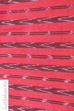 Sambalpuri Red Arrows Ikat (Fabric)