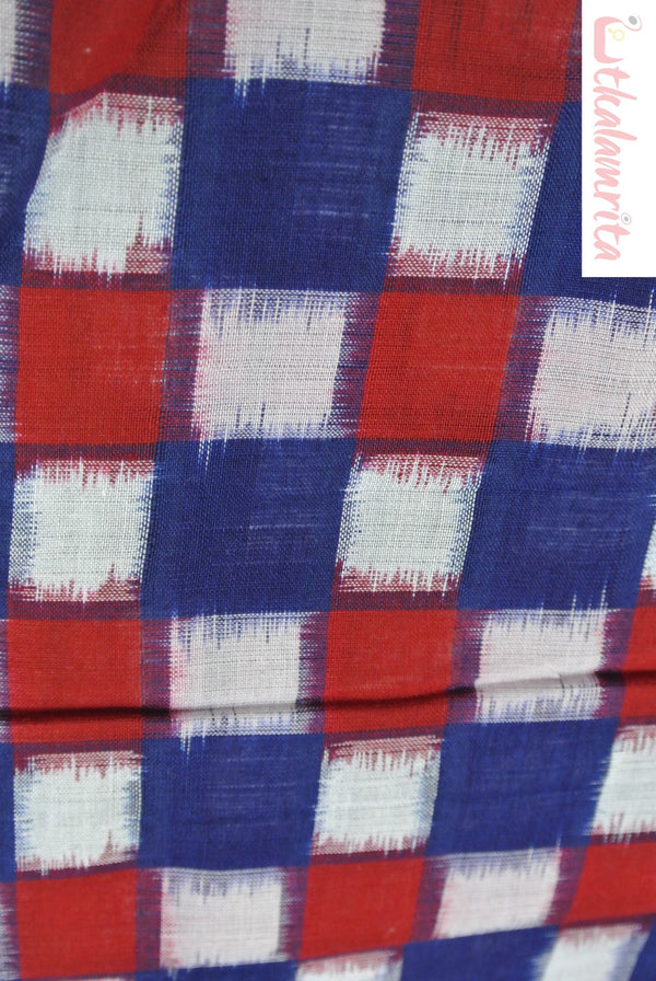 Blue Red 37 Kuthi (Fabric)