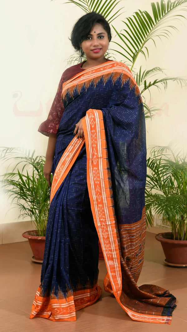 Navy Blue Orange Jharana