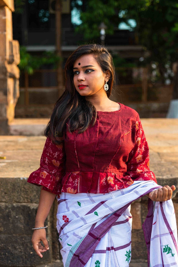Maroon Tribals, Frilly Hands (Blouse)