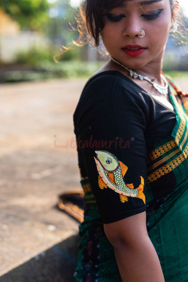 Two Fishes Pattachitra (Blouse)