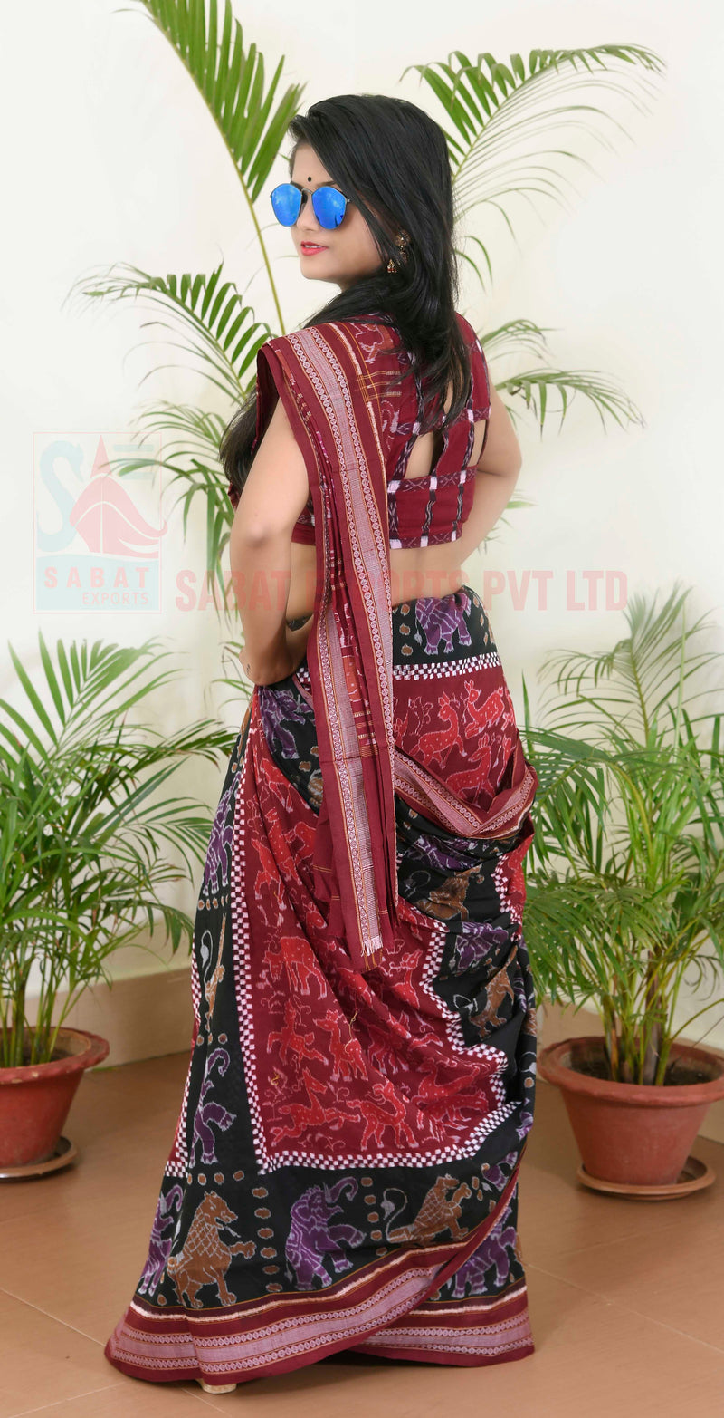 Boxes Forest Saree