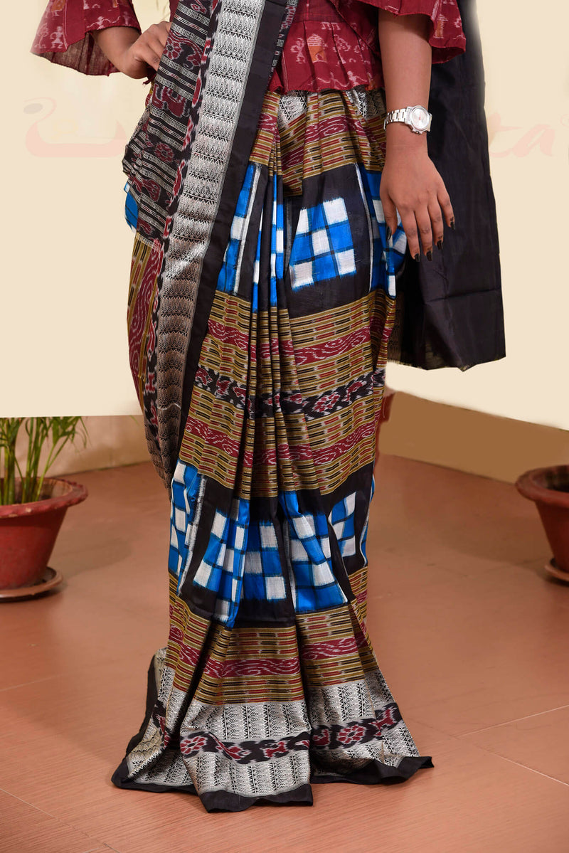 Blue Bichitrapuri Silk