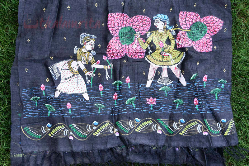 Lotus Pickers Pattachitra