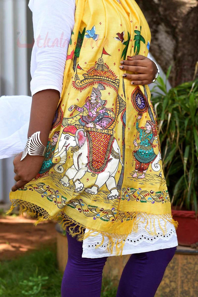 Yellow King Pattachitra