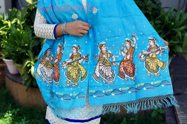 Blue Dancers Pattachitra