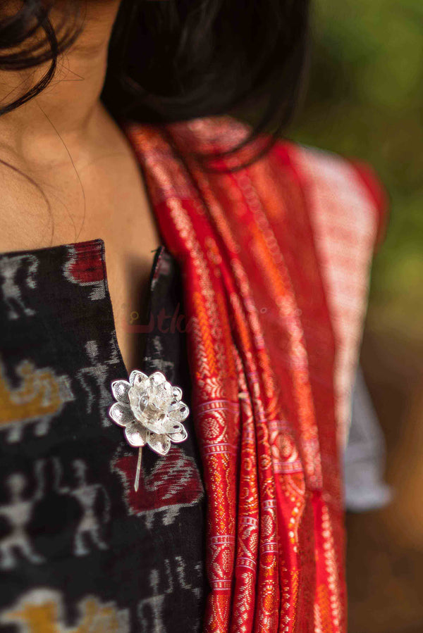 Big Italy Rose Saree Pin