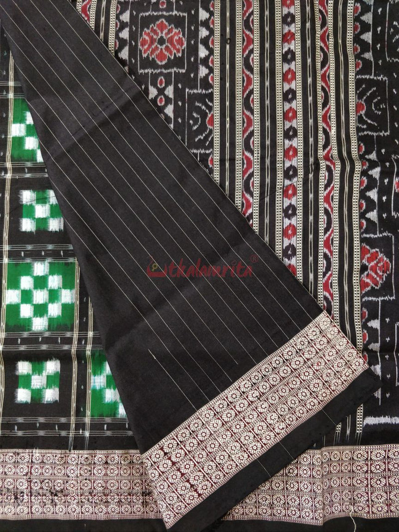 15 Kuthi Green Black Pasapali Silk