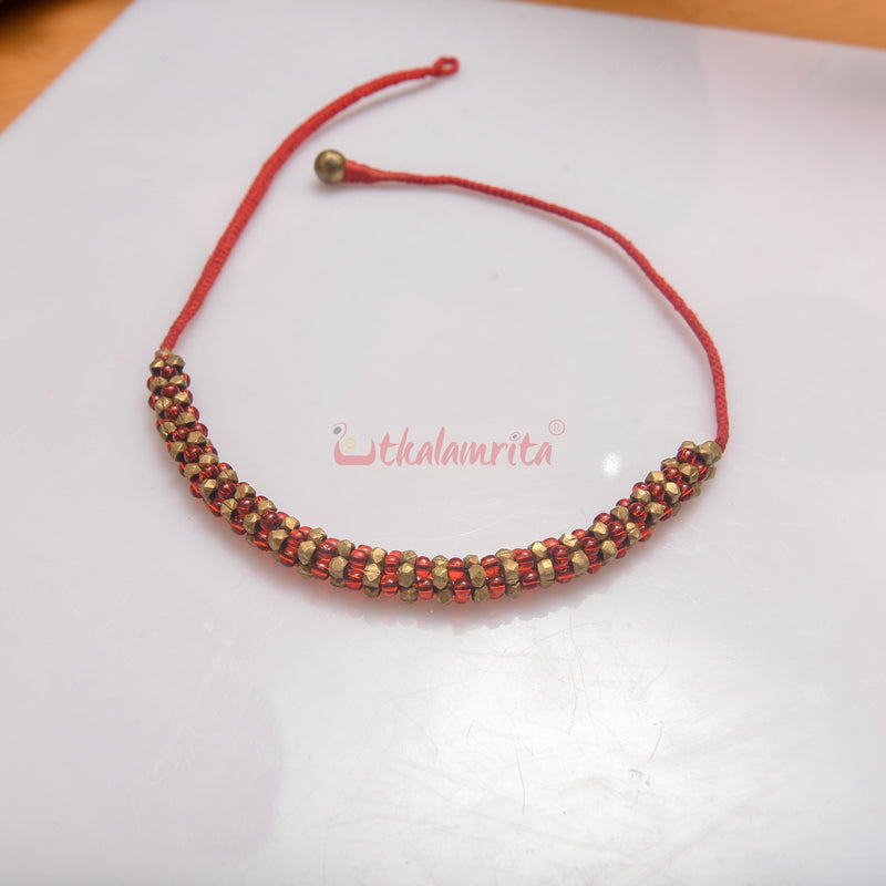 Red Dhokra Sorisiya (Necklace)