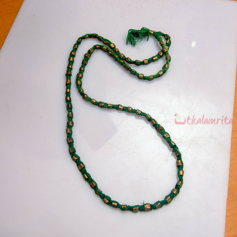 Long Green Dhokra (Necklace)