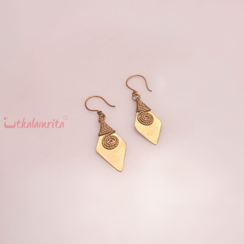 Diamond Dhokra Earrings