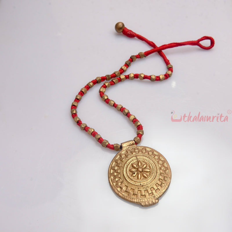 Red Surjyamukhi Dhokra (Necklace)