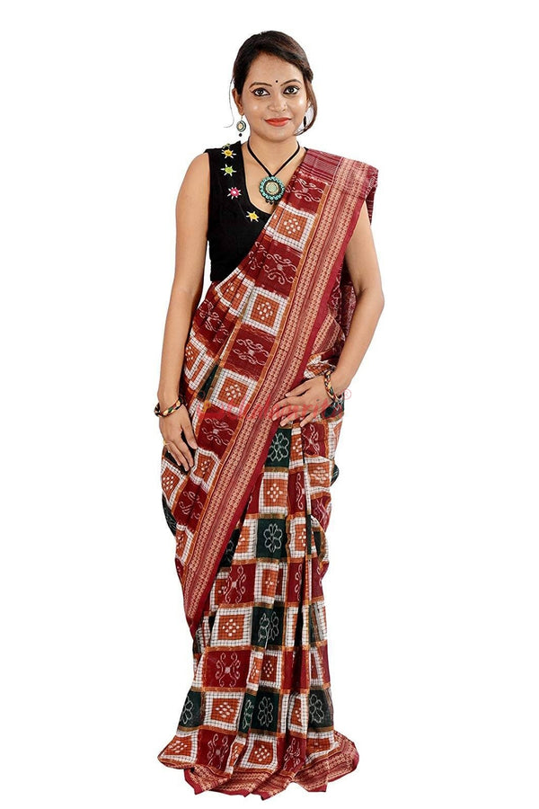 Sakta Check Multicolour Saree